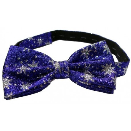 Blue patterned bow tie