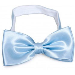 Light blue bow tie