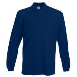 Navy blue long sleeve polo