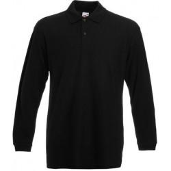 Ash grey long sleeve polo