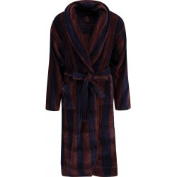 Ambassador bathrobe - Navy / Brown