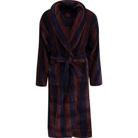 Ambassador bathrobe - Navy / Brown