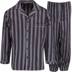 Ambassador flannel pajamas - Black / Grey
