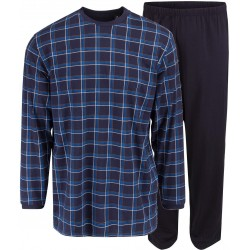 Ambassador jersey pyjamas - Blue checkered