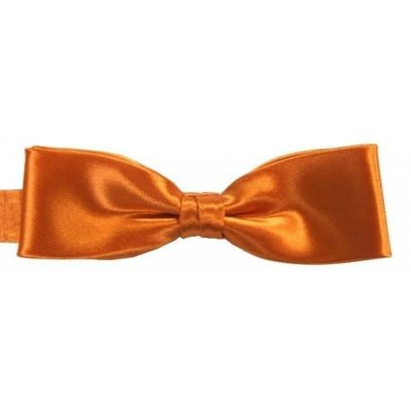 Orange slim bow tie