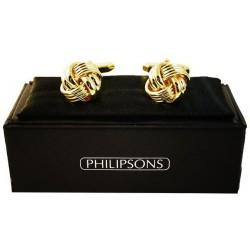 Cufflinks - Gold knot