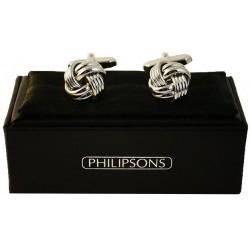 Cufflinks - Silver knot