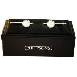 Dress Studs - Silver / Mother of pearl