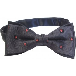 Patterned bowtie - Black