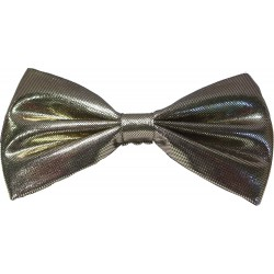 Gold bow tie with elastic