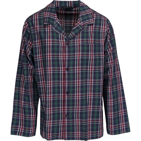 Schiesser pajamas for men - Checkered Green