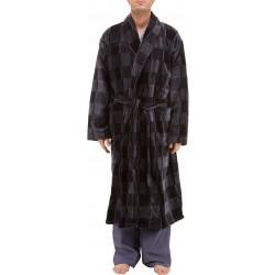 Checked bathrobe