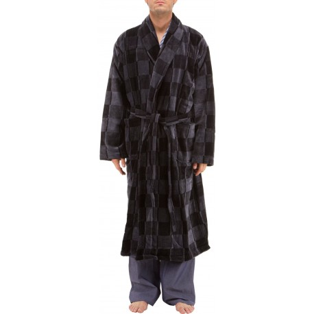 Striped bathrobe