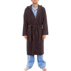 Anthracite gray bathrobe