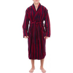 Checked bathrobe