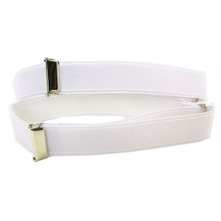 1 pair of white sleeve holders