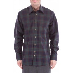 Checkered shirt with wool