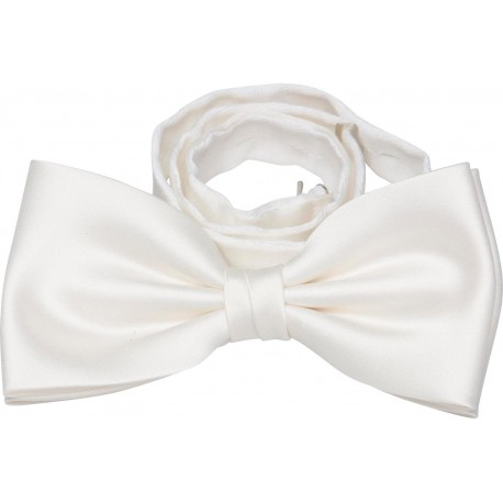Cream colored bow tie