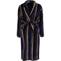 Ambassador bathrobe - Black striped