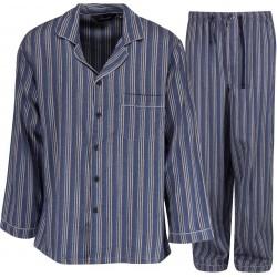 Ambassador flannel pajamas - Blue / Grey