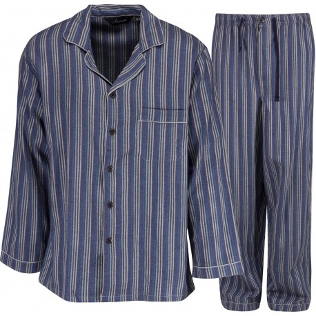 Ambassador flannel pajamas - Blue / Grey