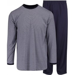 Ambassador jersey pyjamas - blue-striped
