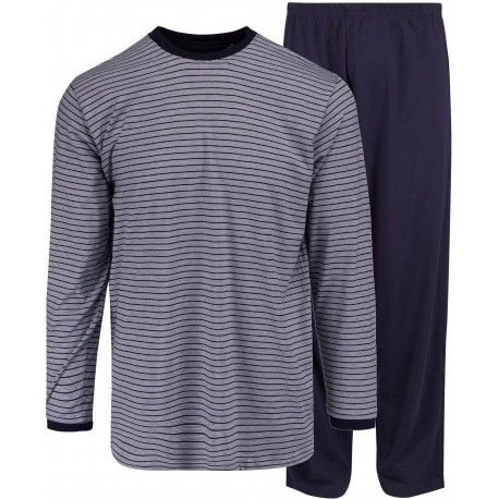 Ambassador jersey pyjamas - blue-striped