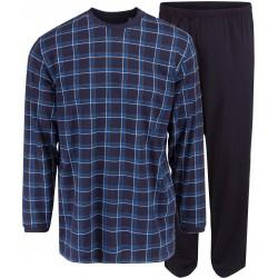 Ambassador jersey pyjamas - Blue checkered
