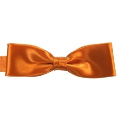 Orange slim bow tie