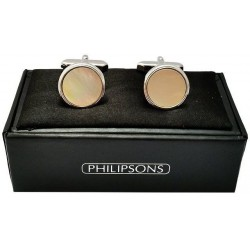 Cufflinks - Silver Mother of Pearl