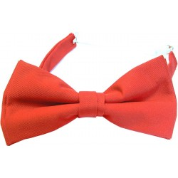 Red bow tie with elastic