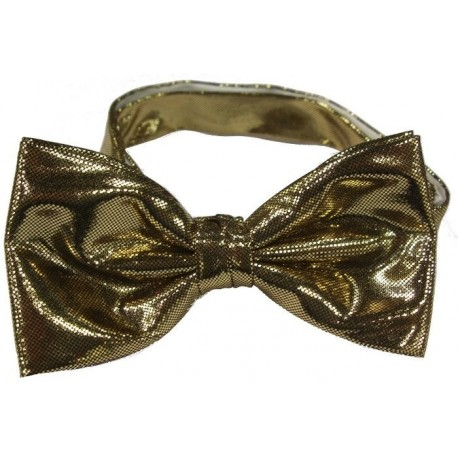 Gold colored bow tie