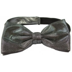 Silver colored bow tie